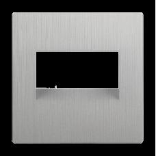 Накладка для двойной розетки Еthernet RJ-45 (перламутровый рифленый)/WL13-RJ45+RJ45-CP a040900