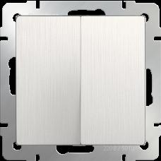 Выключатель  двухклавишный  (перламутровый рифленый)/WL13-SW-2G a051172