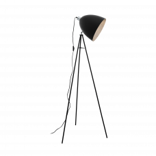 39499 Торшер MAREPERLA, 1x60W(E27), черный, кристалл. оптика 39499