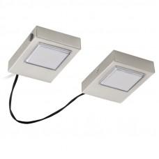 94516 Светодиодная подсветка LAVAIO, 2x 3,7W (LED), сталь, никель матовый, квадратн.плафон 94516