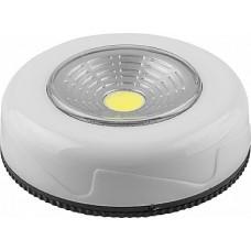 FN1204 1LED 2W Светодиодный светильник-кнопка  (1шт в блистере) 120Lm, 69*25мм, белый 23373