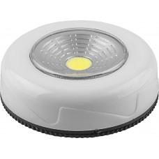 FN1205 1LED 2W Светодиодный светильник-кнопка (3шт в блистере) 120Lm, 69*25мм, белый 23375