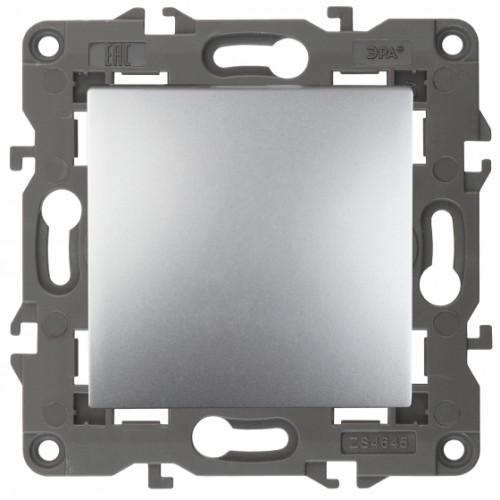 14-1101-03 ЭРА Выключатель, 10АХ-250В, IP20, Эра Elegance, алюминий Б0034210