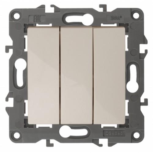 14-1107-02 ЭРА Выключатель тройной, 10АХ-250В, IP20, Эра Elegance, сл.кость Б0034250