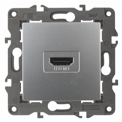 14-3114-03 ЭРА Розетка HDMI, IP20, Эра Elegance, алюминий Б0034334