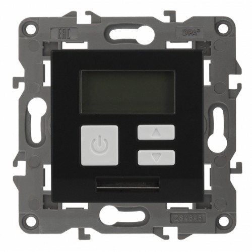 14-4111-05 ЭРА Терморегулятор универс. 230В-Imax16А, IP20, Эра Elegance, антрацит Б0034379