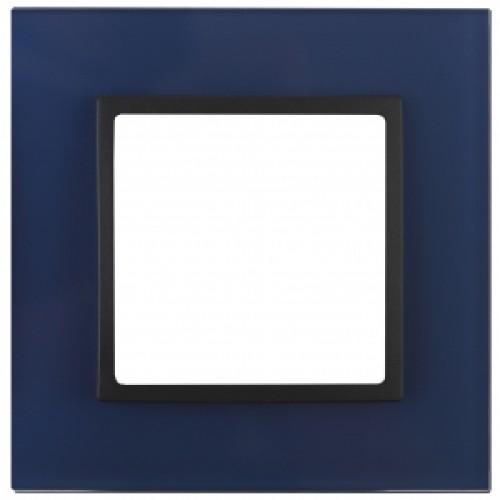 14-5101-29 ЭРА Рамка на 1 пост, стекло, Эра Elegance, синий+антр Б0034483
