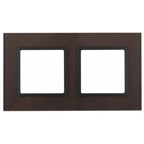 14-5102-13 ЭРА Рамка на 2 поста, стекло, Эра Elegance, бронза+антр Б0034493