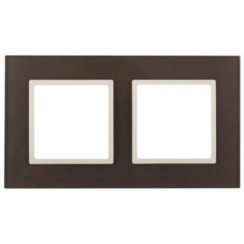 14-5102-31 ЭРА Рамка на 2 поста, стекло, Эра Elegance, мокко+сл.к Б0034503