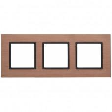 14-5203-14 ЭРА Рамка на 3 поста, металл, Эра Elegance, медь+антр Б0034556