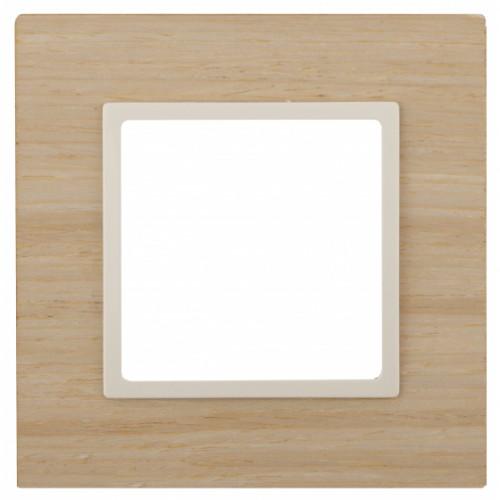 14-5301-11 ЭРА Рамка на 1 пост, дерево, Эра Elegance, клён+сл.кость Б0034570