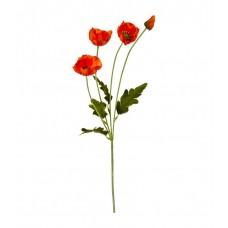 Цветок искусственный  Мак, 60см, красный 1083964