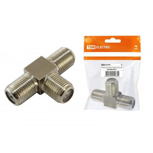 Соединитель кабеля тройник гнезда, инд. упаковка TDM SQ1809-0017
