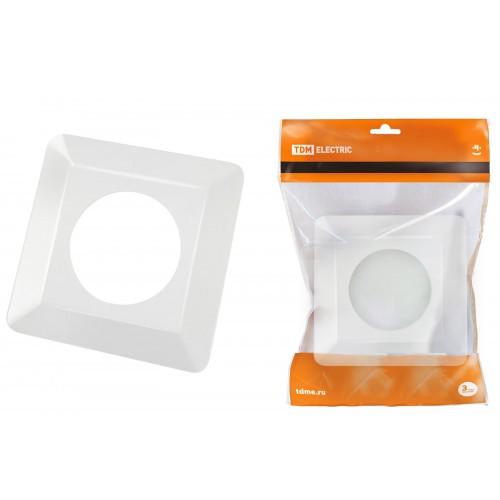 Одноместная защитная рамка для выключателей или розеток для защиты обоев 130х130 мм, прозрачная TDM SQ1822-0001