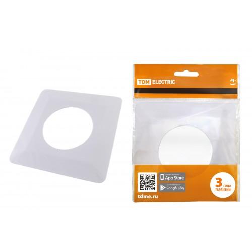 Одноместная защитная рамка для выключателей или розеток для защиты обоев 130х130 мм, белая TDM SQ1822-0002