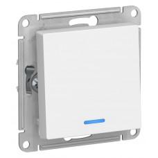 AtlasDesign Бел Выключатель 1-клавишный с подсветкой, сх.1а, 10АХ, механизм ATN000113