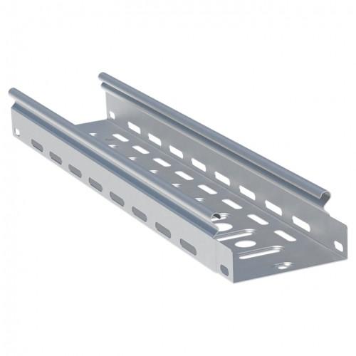 Лоток перфорированный металлический 50х600х3000-1,0мм (6м) EKF L5060001