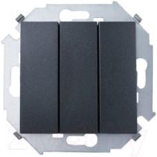 Трехклавишный выключатель, графит 2450391-038
