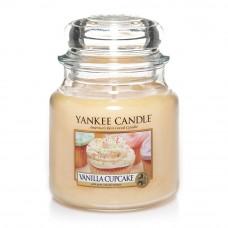Свеча средняя в стеклянной банке Ванильный кекс Vanilla Cupcake 411 гр / 65-90 часов 1093708E