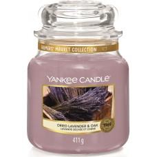 Свеча средняя в стеклянной банке Кора дуба и лаванда Dried Lavender & Oak 411 гр / 65-90 часов 1623468E
