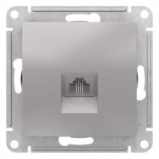 AtlasDesign Алюминий Розетка телефонная RJ11, механизм ATN000381