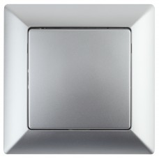 4-101-03 Intro Выключатель, 10А-250В, СУ, Solo, алюминий (10/200/2400) Б0043265