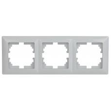 4-503-01 Intro Рамка на 3 поста, СУ, Solo, белый (14/280/3360) Б0043417