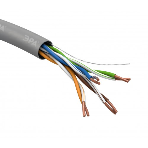 U-4-PVC LAN-кабель витая пара U/UTP-Cu   ЭРА  4x2x24 AWG Cat5e CU PVC 305м (2/24) Б0044429