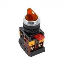 Переключатель ANC-22 3P красный с подсветкой 24В NO+NC EKF PROxima psw-ans-3p-r-24