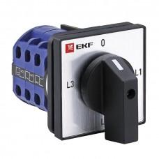 Переключатель кулачковый ПК-1-94 10А 4P для амперметра EKF PROxima pk-1-94-10