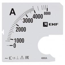 Шкала сменная для A961 4000/5А-1,5 EKF PROxima s-a961-4000