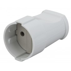 Rx1-W ЭРА Розетка кабельная б/з прямая 10A белая Б0039680