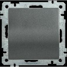 ВС10-1-0-Б Выключатель 1 клав. 10А BOLERO антрацит IEK EVB10-K95-10