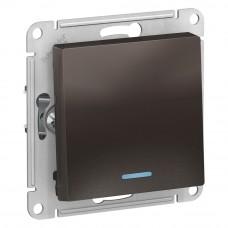 AtlasDesign Мокко Выключатель 1-клавишный с подсветкой, сх.1а, 10АХ, механизм ATN000613