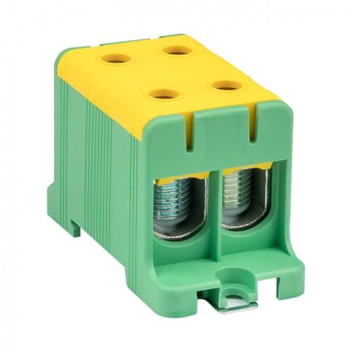 Клемма силовая вводная двойная КСВ 16-95 желто-зеленая EKF PROxima plc-kvs2-16-95-y-green