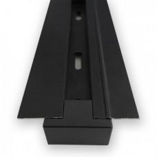 CAB1004 Шинопровод встраиваемый для трековых светильников, черный, 3м,(токовод, заглушка, крепление) 10356