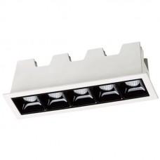 357621 SPOT NT18 083 белый/черный Встраиваемый светильник IP20 LED 3000K 10W 160-265V ANTEY 357621