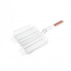 Решетка для барбекю ECOS RD-171D (р-р 35x25x2 см, общая длина 70 см, хром.) 999634