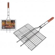 Решетка для барбекю ECOS RD-172D (р-р 35x25x2см, общая длина 70 см, сталь с а/пригарным покр.) 999635