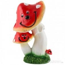 Фигурка садовая Мухоморы улыбаются Н-27см 169357