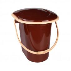 Ведро-туалет 17л (коричневый) (уп.10) М1319