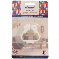 77M07023 Gromell Rolla Самоклеющийся настенный держатель для швабры 77M07023
