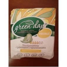 Прокладки женские 10 шт Ultra Normal Dry GREEN DAY *24 (ШК: 4627087923136 ) 870466
