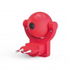 Светильник розеточный с фиксированной проекцией и датчиком освещённости,  0,5W, розовый 1/100 DIY0032