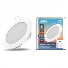 Светильник светодиодный Gauss Smart Home DIM+CCT 7 Вт 2030122