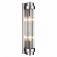 4823/2W WALLI ODL21 505 никель/прозрачный Настенный светильник E14 2*40W LORDI 4823/2W